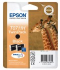 Epson T0711H Twin Pack, 2 x cartus Black