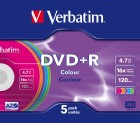 Verbatim DVD+R 16X 4,7GB, Slim Case Color (43556)