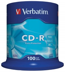 Verbatim CD-R 52x 700 Mb ExtraProtection (43411 ), 100/spindle