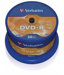 Verbatim DVD-R 4.7 Gb AZO Matt Silver ( 43548), set/50 bucati spindle