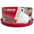 FORTIS DVD+R 8x Double Layer, 8,5GB Wide Printable, cake-box/25