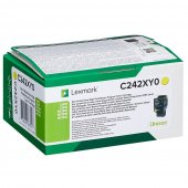 Lexmark C242XY0 Toner Yellow Extra High, 3.500 pagini