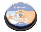 Verbatim DVD-R 8CM 4X 1.46GB inkjet printable (43573), set/10 bucati spindle