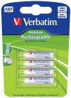 VERBATIM AAA RECHARGEABLE BATTERIES 4PK (49942)