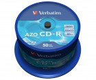 Verbatim CD-R 700 (43343) Mb AZO Crystal, set 50 bucati